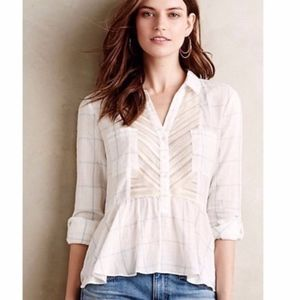 ANTHRO | MAEVE | Southbound Button Down Blouse